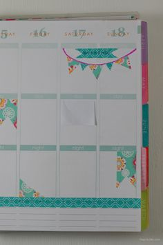 How to Decorate Your Planner with Washi Tape // great DIY article on how to use washi tape to brighten up your planner &/or highlight important dates on the cheap.