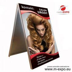 rewelacyjny darmowy projekt na baner, reklamę, stojak, potykacz - tematyka: salon kosmetyczny i fryzjerski