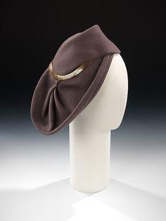 Hat    Sally Victor, 1944    The Metropolitan Museum of Art