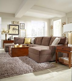 Raphael Contemporary Sectional Sofa With Raf Corner Storage Chaise