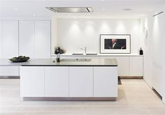 integrated #Boffi kitchen pure white #minimal