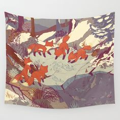 Fisher Fox Wall Tapestry