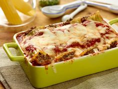 Beef and Cheese Manicotti Recipe : Giada De Laurentiis :One of the best rated from food network
