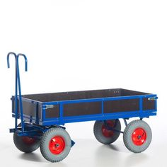 GTARDO.DE:  Handpritschenwagen, Holzwände, Tragkraft 1t / 1000 kg, Ladefläche 1160x760 mm, Vollgummi, Maße 1400x840 mm 741,00 €