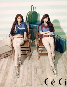Sooyoung and Seohyun for Tommy Hilfiger and Ceci
