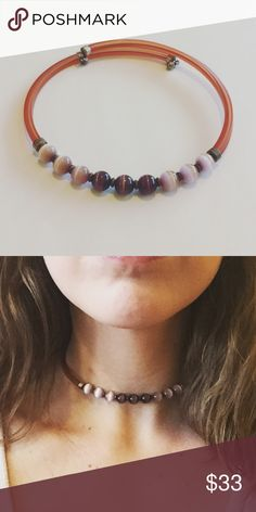 Purple Beaded Choker Necklace Beautiful, unique choker necklace with purple & lavender beads. Easy to put on; Fits all neck sizes. Jewelry Necklaces