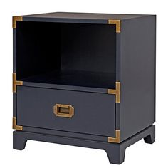 Campaign Nightstand (Midnight Blue) | The Land of Nod