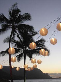 Lanterns, Beachside Wedding, The St. Regis Princeville Resort