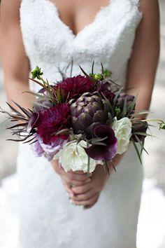 Eggplant (dark purple) bouquets! - Weddingbee