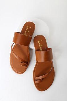 b6a72d6756 Avena Light Tan Flat Sandals Tan Flats, Tan Sandals, Slide Sandals,  Minimalist Chic