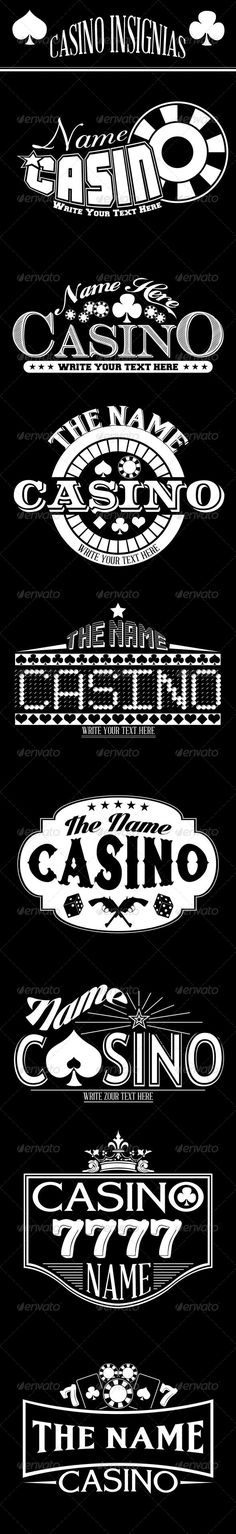Casino Insignias, they are perfect to use as logos, poster, labels, sticker or flyer, packing product design, website promotion graphics or print design