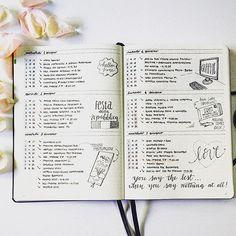 Il profilo Instagram di Serilittlenotes con le immagini del suo bullet journal: tante illustrazioni e ispirazioni anche per chi ama lo stile essenziale