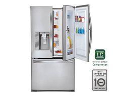 LG 28.6 Cu. Ft. French Door Refrigerator - Stainless Steel | PCRichard.com | LFXS29766S