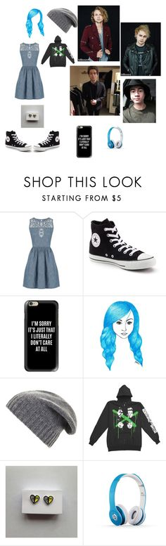 """""""Casual day of the blues and 5 seconds of summer"""" by daviswolf on Polyvore featuring Oasis, Converse, Casetify, BCBGMAXAZRIA, Beats by Dr. Dre and 5sos"""