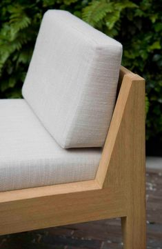 A collaboration with garden designer Luciano Giubbilei. Born of a vision for garden furniture as an integral part of a garden design, Smith uses the principles of. Wooden Sofa Designs, Wooden Sofa Set, Wood Sofa, Outdoor Furniture Plans, Modern Furniture, Home Furniture, Furniture Design, Bespoke Furniture, Garden Sofa