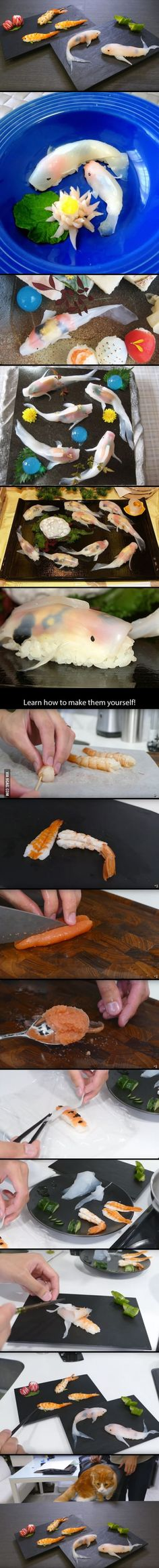 This Guy Makes Sushi That Looks Like Real-Life Koi In A Few Simple Steps tracking.