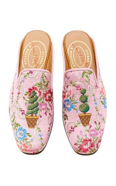 M'O Exclusive: Topiary Rosada Ava Mule by STUBBS & WOOTTON for Preorder on Moda Operandi