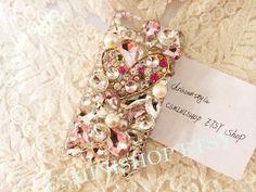 Heart shaped bling crystal rhinestone iphone 4 case by CSMiNiShop, $25.99