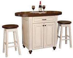 Image result for small kitchen island with stools