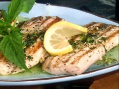 Mahi Mahi with Zesty Basil Butter Food Network invites you to try this Seared Mahi Mahi with Zesty Basil Butter recipe from Paula's Best Dishes.Food Network invites you to try this Seared Mahi Mahi with Zesty Basil Butter recipe from Paula's Best Dishes. Fish Recipes, Seafood Recipes, Great Recipes, Favorite Recipes, Recipies, Fish Dishes, Seafood Dishes, Main Dishes, Food Network Recipes