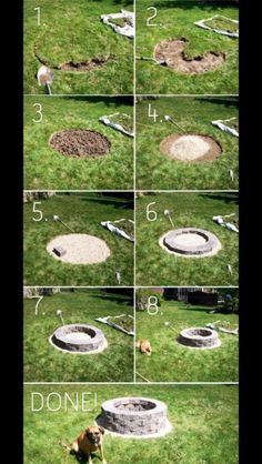 DIY firepit - We carry pavestone garden wall blocks that would be perfect for this!