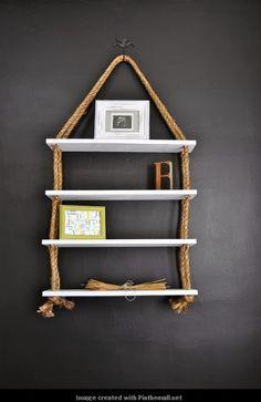 DIY-Home-Decor: DIY Rope shelves