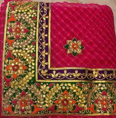 Emb border Bridal Dupatta, Indian Bridal Lehenga, Indian Sarees, Tambour Embroidery, Embroidery Fabric, Shadi Dresses, Rajputi Dress, Punjabi Dress, Saree Border