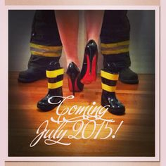 My husband and I just announced our pregnancy! He's a firefighter and I love shoes. I couldn't wait for baby bunker boots to be shipped, so I bought baby rain boots and used yellow duck tape to make the reflectors. Received so many compliments! Maternity Poses, Maternity Pictures, Pregnancy Photos, Baby Pictures, Baby Announcement To Husband, New Baby Announcements, Bunker, Baby Rain Boots, Baby Activity Board