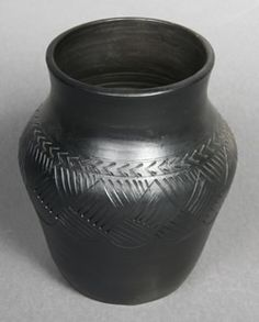 Blackware pottery vase by Louise Bigmeat Maney