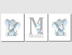 Elephant Nursery Decor, Nursery Twins, Woodland Nursery Decor, Nursery Art, Nursery Ideas, Baby Wall Art, Baby Art, Art Wall Kids, Nursery Neutral
