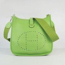 Hermes Leather Evelyne Messenger Bag MM - Green  $209.00