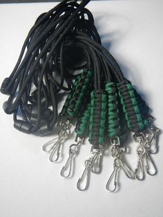 Paracord Lanyard ID Lanyard Neck Lanyard Badge Lanyard by sarges, $3.50
