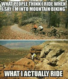 First lesson for every mountain biker. Cycling Memes, Cycling Quotes, Mountain Biking Quotes, Mountain Bike Trails, Bike Rollers, Bike Humor, Montain Bike, Mt Bike, Mtb Trails