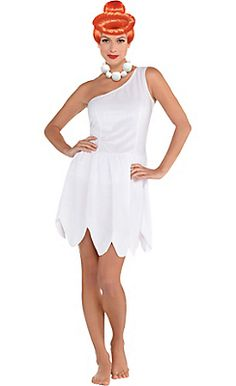 Adult Wilma Flintstone Costume - The Flintstones More  sc 1 st  Pinterest : bam bam costume for adults  - Germanpascual.Com