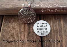Golf Ball Marker golf marker   hat clip set by NowThatsPersonal Gifts For  Golfers 561c2893a318