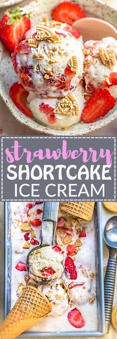 Strawberry Shortcake Ice Cream is the perfect frozen sweet treat for summer. Best of all, made with just six ingredients for the creamiest ice cream with no eggs (eggless)! Full of fresh strawberries, crumbled Oreo cookies and so easy to make!