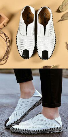 >> comprar aqui << Prelesty Hombres Zapatos Slip On Hombres Planos de Los Hombres Casuales Mocasines de Cuero Suave Zapatos de Conducción Transpirable Diseño Toe Chaussure Homme
