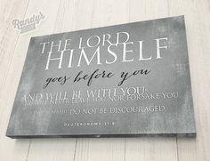 Custom Typography Bible Verse on Canvas Christian by RandysDesign, $49.00