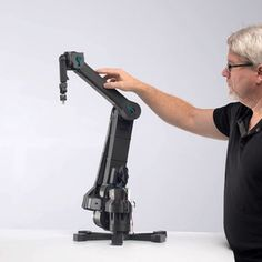 Dexter is an open-source robotic arm mostly made with a printer. – Hackaday – Uwe Meyer Dexter is an open-source robotic arm mostly made with a printer. – Hackaday Dexter is an open-source robotic arm mostly made with a printer. Esp8266 Arduino, Arduino Bluetooth, 3d Printer Designs, 3d Printer Projects, Dexter, 3d Printed Robot, Small Printer, Military Robot, Mechanical Arm