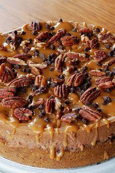 Caramel Pecan Turtle Cheesecake