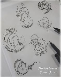 61 ideas tattoo ideas for kids names for moms sons tatoo Mommy Tattoos, Mutterschaft Tattoos, Tattoo Mama, Motherhood Tattoos, Tattoo For Son, Baby Tattoos, Tattoos For Kids, Family Tattoos, Tattoos For Daughters