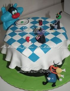 Oggy and the Cockroachers Cake by EliDoces
