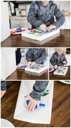 DIY Gift Wrap Ideas- Amber Tysl #christmas #diy #christmashometour #giftwrapideas #christmasdiy #christmasdecor #ChristmasBloggerBash #HolidaysAreComing  #ChristmasAroundTheCorner  #simplehome Craft Night, Christmas Design, Make Your Own, Wraps, Diy Projects, Gift Wrapping, Design Ideas, My Favorite Things, Paper