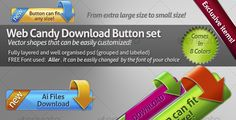 Web candy download button set