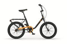 """Bicicletta tipo graziella FKU 20"""" arancio nero MBM"""