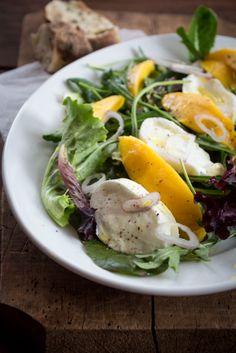 Mango Caprese Salat + Verlosung {flowers on my plate}
