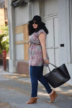 Scarf Print Tunic And Wedges