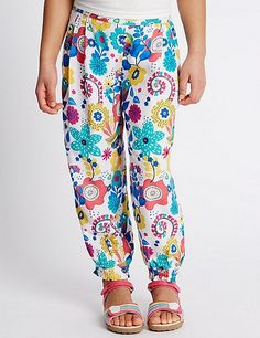Bird Print Floral Trousers (1-7 Years) | Marks & Spencer London