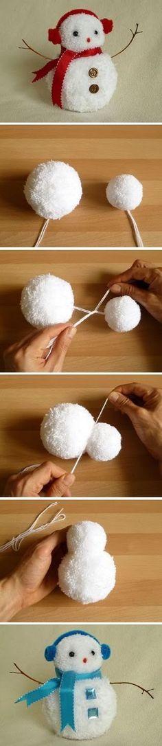 Pompom - Bonhomme de neige - Activités enfants: