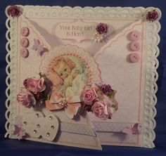 A beautiful 8x8 card for the new baby girl.   Card available with gift tag.   Presented in a gift box.